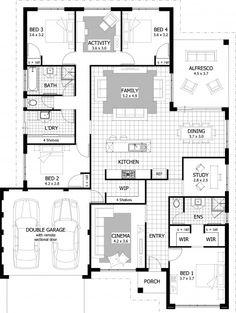 Could be a next gen // Bowman Floor Plan Bedroom House Plans, Dream House Plans, Modern House Plans, Small House Plans, House Floor Plans, Building Plans, Building A House, Home Design Floor Plans, House Front Design