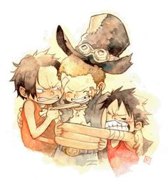164 Best Three Brothers Images On Pinterest One Piece Luffy Manga