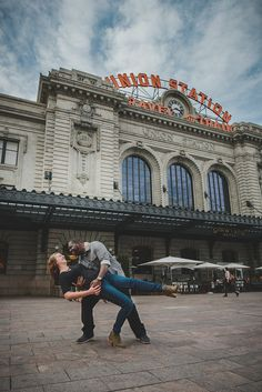 Downtown Denver Colorado Union Station Wedding Engagement Session // Photos by Suzanne Jakes