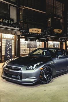 Sexy two tone grey Nissan GTR. Love it.