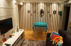 Apartamento da leitora: vintage + moderno + retrô! www.comprandomeuape.com.br