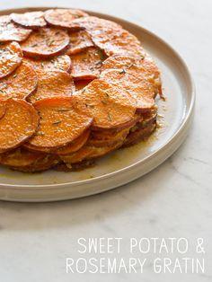 Sweet Potato and Rosemary Gratin ~ Spoon Fork Bacon.