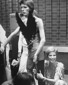David and Angie Bowie backstage, 1980 Floor Show at the Marquee Club, London, October 1973.