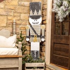 Amazing Winter Porch Decor Ideas You Should Copy Now - The winter months can be a test for even specialists at decorating. The cold and fresh air set apart by the absence of development will, in general, m. Christmas Porch, Primitive Christmas, Christmas Signs, Outdoor Christmas, Christmas Ideas, Xmas, Christmas Decor, Christmas Stuff, Holiday Ideas