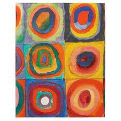 Kandinsky Squares Concentric Circles