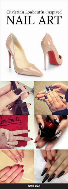 The Christian Louboutin manicure is easy and chic! All you need is a red nail polish to paint underneath your nails. Check out these images to get inspired.