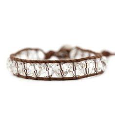 Bracelets > Silver Shade Crystal Single Wrap - Chan Luu