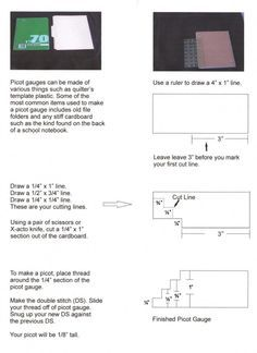 How to Make a Picot Gauge