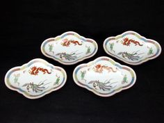 Vintage Royal Crockery Japan Nippon Dragon Phoenix Oval Pedestal Dish Plate | eBay