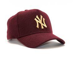 Koupit Dámská Kšiltovka New Era Melton A-Frame New York Yankees 9FORTY  Maroon Gold Snapback 9aed29c8b1