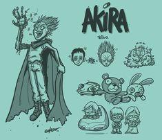 Outstanding Collection of Akira Fan Art   Abduzeedo Design Inspiration