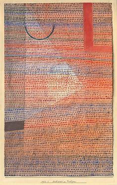design-is-fine: Paul Klee, Halbkreis zu Winkligem, Semi-circle with angular features, 1932.