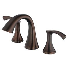 Danze Antioch Tumbled Bronze 2-Handle Widespread WaterSense Bathroom Faucet (Drain Included)