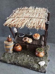 1 million Stunning Free Images to Use Anywhere Clay Fairy House, Fairy Houses, Miniature Crafts, Miniature Houses, Miniature Rooms, Thali Decoration Ideas, Christmas Nativity Scene, Nativity Scenes, Clay Fairies