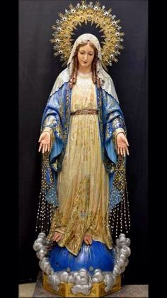 .I believe that not as a statue to worship, or idolize  her, but to remind all of us that we should honor her as the blessed Virgin Mary.  The mother of Jesus Christ,  as all Christians are suppose to believe in the commandments .    You know them there are 10 of them  read the 4th one again and remember she is has a place in all our hearts.    So when you see her statue its to remind us how soon we forget the true meaning and beginning of our faith as Christians.