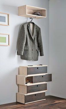 die perfekte lösung für wenig platz im flur! eine schiebe ... - Coole Garderobe