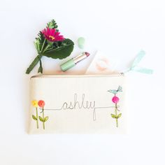 Etsy Custom Made Personalized Clutch Personalized by MamaBleuDesigns