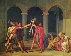 Famous Artist Birthdays! Jacques-Louis David was a seminal figure in French Neoclassical art, regarded even as the forerunner of the movement. A historical painter, David became an active participant in the French Revolution.  The Oath Of Horatii 1784  20th Century Masterworks available for purchase through Robin Rile Fine Art Contact info@robinrile.com