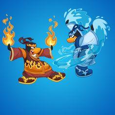 Fire vs. Water Ninjas - Outdoor Activities   Club Penguin