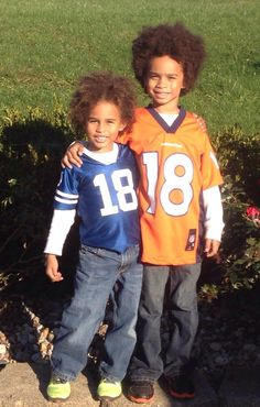 Curly hair mixed kids Manning fans