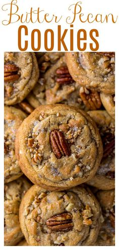 Butter Pecan Cookies, Yummy Cookies, Yummy Treats, Sweet Treats, Butter Pecan Fudge Recipe, Peanut Butter, Easy Desserts, Delicious Desserts, Yummy Food