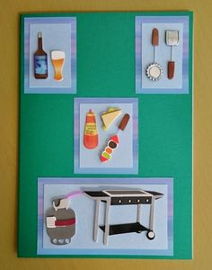 Handmade C5 3D Barbeque Greeting Card Any Occasion by BavsCrafts