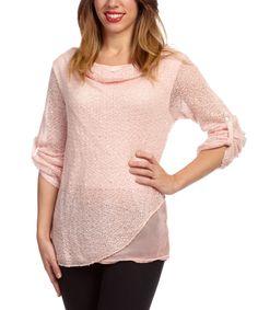 LOLA Pink Mohair-Blend Drape Sweater by LOLA #zulily #zulilyfinds