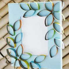 Petal Picture Frame  made from toilet paper rolls!