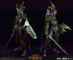 Dark Elf Lord for Total War: WARHAMMER II - Female Dreadlord I had so much fun making this character for the game. Fantasy Battle, Fantasy Armor, Medieval Fantasy, Tolkien, Warhammer Dark Elves, Elf Armor, Creative Assembly, Warhammer Fantasy Roleplay, Dark Eldar