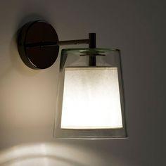 Applique, duo transparent Am. Bulbs Energy, Wall, Glass Wall, Wall Lights, Light, Plates On Wall, Bedside Lighting, Wall Lighting Design, Glass Wall Lights