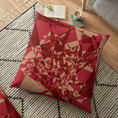 Designer Pillow, Pillow Design, Floor Pillows, Throw Pillows, Broken Mirror, Pillow Shams, Cushions, Gift Wrapping, Shapes