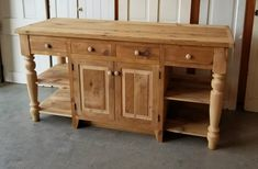 This listing is for a 6 ft standard reclaimed Barnwood Pine Kitchen island with a 26 Pine Kitchen, Round Kitchen, Wooden Kitchen, Kitchen Decor, Kitchen Ideas, Kitchen Sideboard, Decorating Kitchen, Kitchen Furniture, Diy Furniture