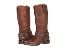 Frye Heath Disc Harness Cognac Stone Antiqued - Zappos.com Free Shipping BOTH Ways