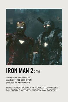 iron man 2 polaroid film poster
