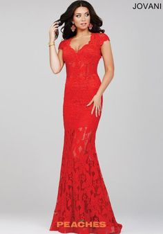 Lace Fitted Jovani Dress 26961