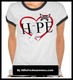 Lung Cancer Hope Butterfly Heart motto on shirts, apparel, tees and gifts by www.giftsforawareness.com #lungcancer #cancerawareness #awareness