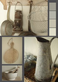 I have a few metal pitchers and I need to get them out for decoration