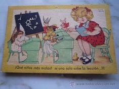 Postal 1945 / ESCUELA MARI PEPA. Ilustra Colección MARÍA CLARET / Muñeca-s Peluche-s Juguete Niña...