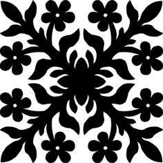 Hawaiian Quilt Tile 71 : HaoleKid