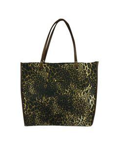 Bolsa modelagem sacola de tecido estampado e alças de couro. Cristófoli verão 2015
