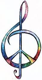 peace/music symbol