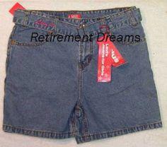 Denim Jean Shorts Girls Plus 10 5 10 1 2 New Blue Belt Levis Levi'S | eBay