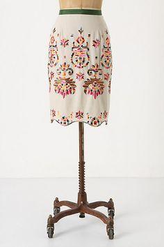 Majestic Medallions Skirt #anthropologie