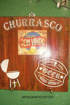 Placa Churrasco e Cerveja - R$ 20,00 Cod. PMC 170