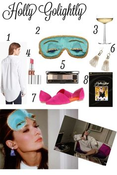 Holly Golightly Halloween Costume Idea #hollygolightly #audreyhepburn #costume #sleepmask