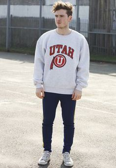 Vintage 90s Utah University Utes Sports Sweatshirt