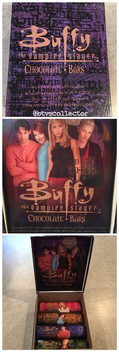 Buffy the Vampire Slayer chocolate bars with box.
