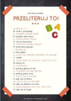 Przeliteruj to … Hand Therapy, Kids Logo, Home Schooling, Music Education, Creative Kids, Kids House, Kids And Parenting, Kids Playing, Montessori