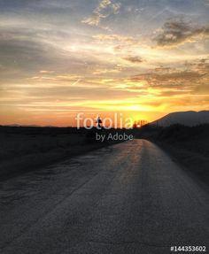 Sulla strada al tramonto