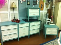 chalk- painted dresser,  and waxed to a nice shine!